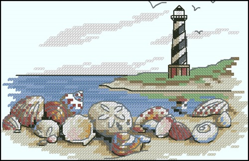 "Морской сэмплер ""Маяк и ракушки"""