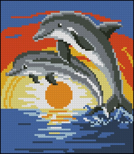 Dolphins Toilet Lid Cover