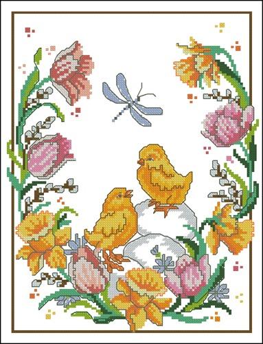 Цыплята и стрекоза
