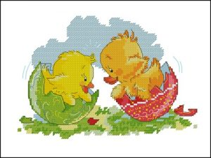 Easter chick and duckling