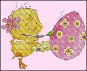 Цыплёнок-художник