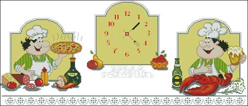 Часы и поварята