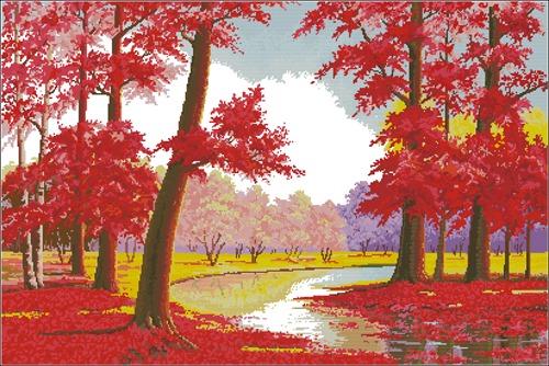 Осень в красных тонах
