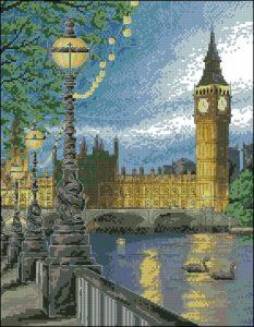 Закат над Темзой