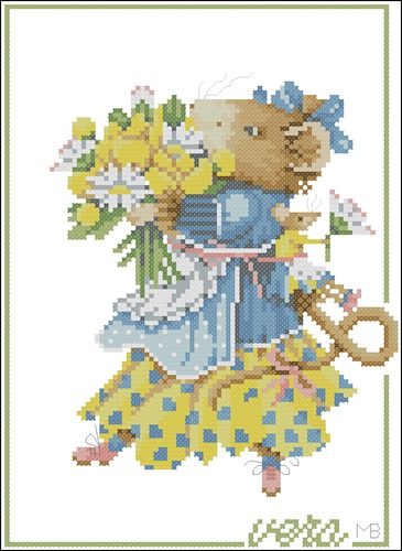 Vera de muis met bloemen N°33840