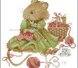 № 34873 Vera the Mouse - Knitting