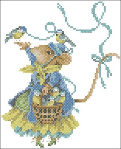 Vera de muis met vogels N°34350