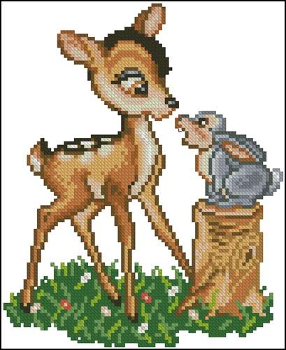 Bambi with Rabbit