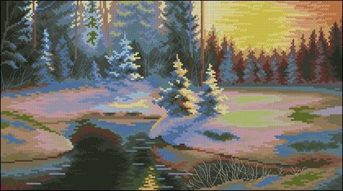 529 Зимний пейзаж