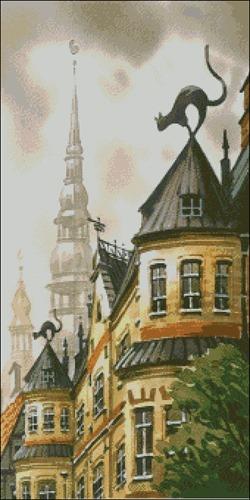 Старая Рига 3 - триптих