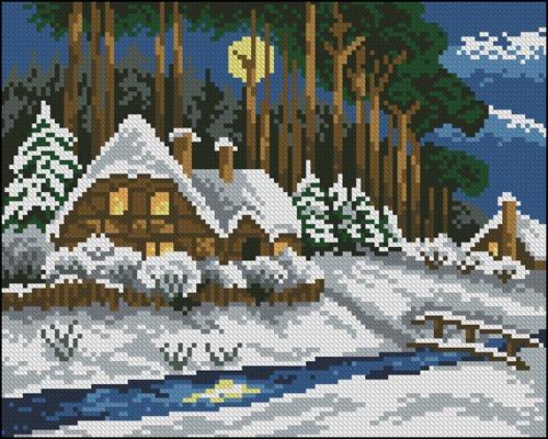 Зима в деревушке