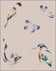 Бабочки и птички