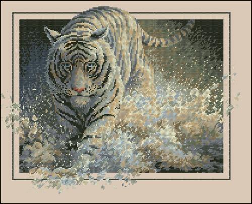 Белый тигр Амурский