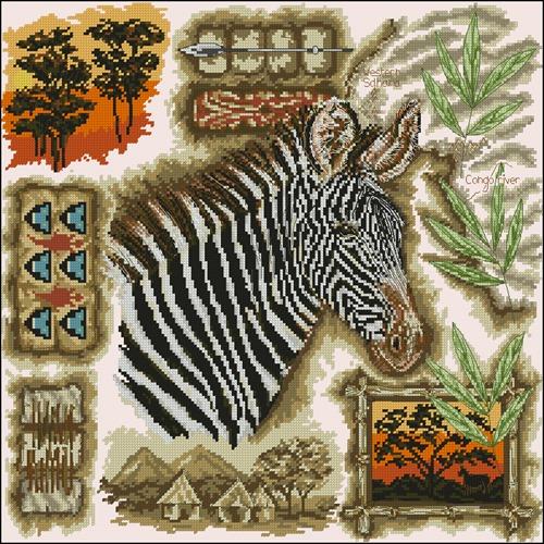 Африканская зебра