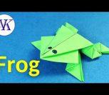 ВИДЕО: Как сделать прыгающую лягушку из бумаги - САМОЕ ЛЕГКОЕ оригами