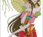Стильная леди с зонтом