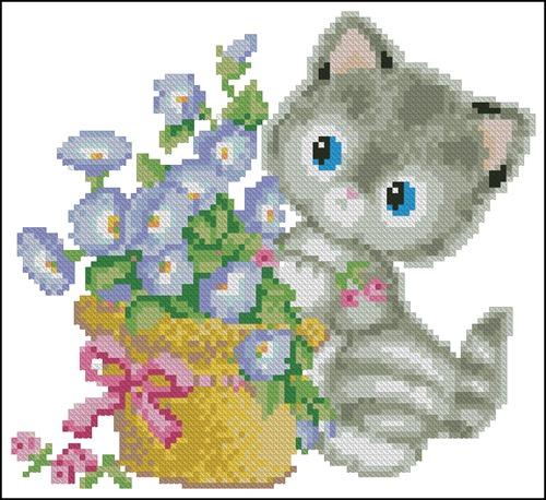 Котёнок с корзинкой