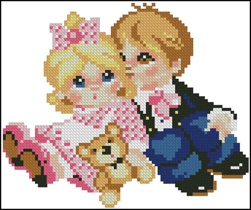 Дети с мишкой