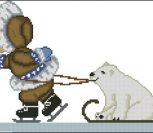 Эскимос и медведь