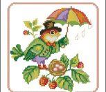 Птичка с зонтиком