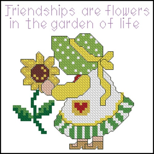 Frendship are flowers in the garden of life