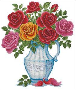 Розы в кувшине