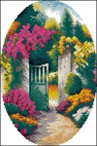 Садовая калитка (овал)