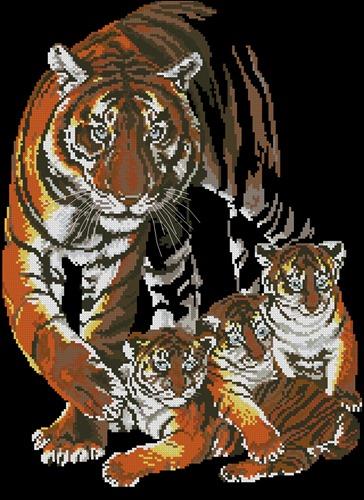 Тигрята с мамой