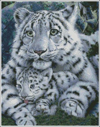 White Tigress and Cub