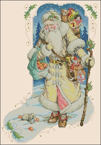Новогодний носок с Дедом Морозом