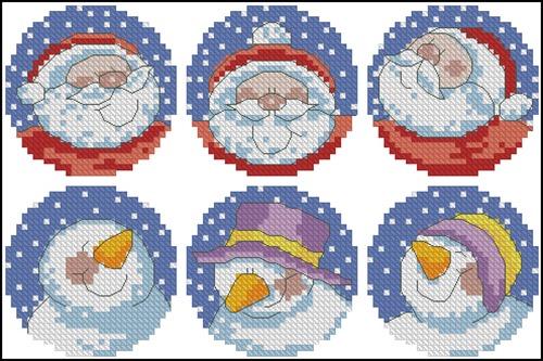 Christmas Cards Santa & Snowman