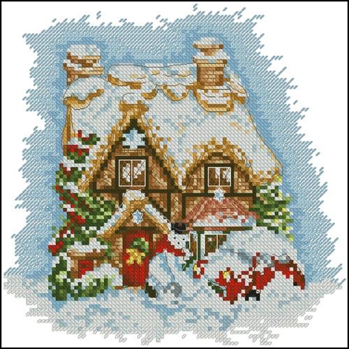 "Миниатюра ""Дом на Рождество"""